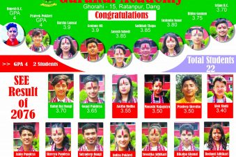 SEE First Batch Student–2077